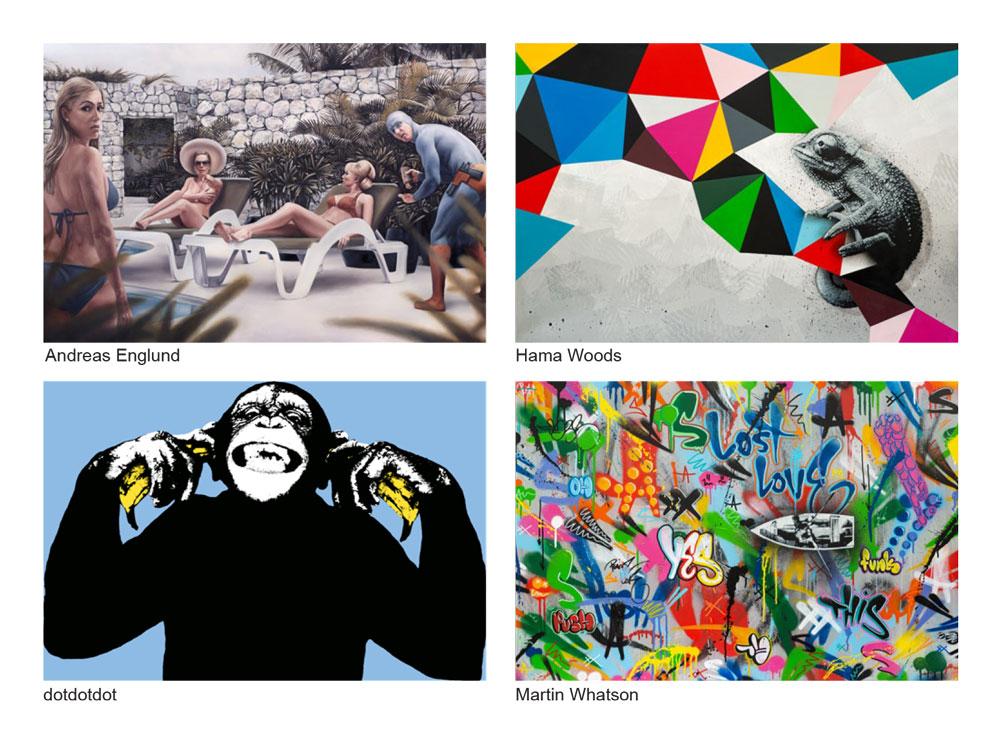 Velkommen til Street art utstilling i nye moderne lokaler